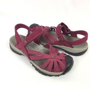 KEEN | sandals raspberry closed toe 7.5